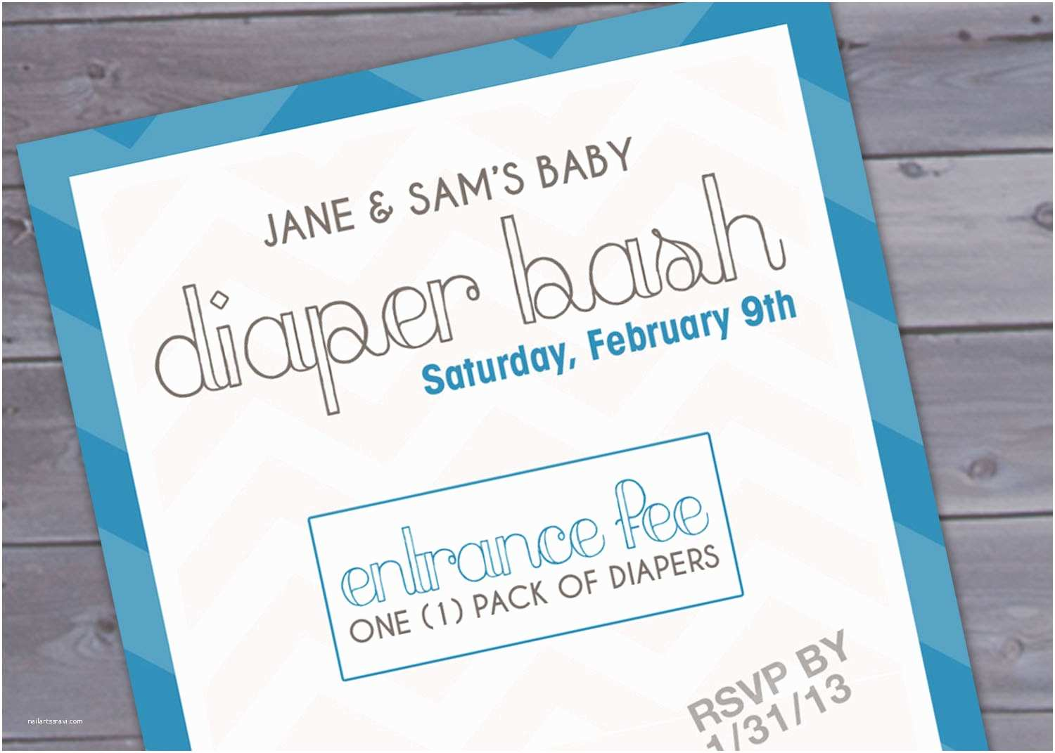 Baby Shower Diaper Invitations Diaper Party Invitation Wording Template