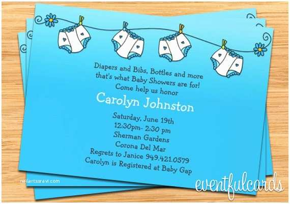 Baby Shower Diaper Invitations Diapers Baby Shower Invitations