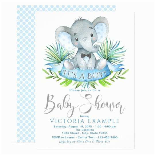 Baby Shower Elephant Invitations Boys Baby Elephant Baby Shower Invitations
