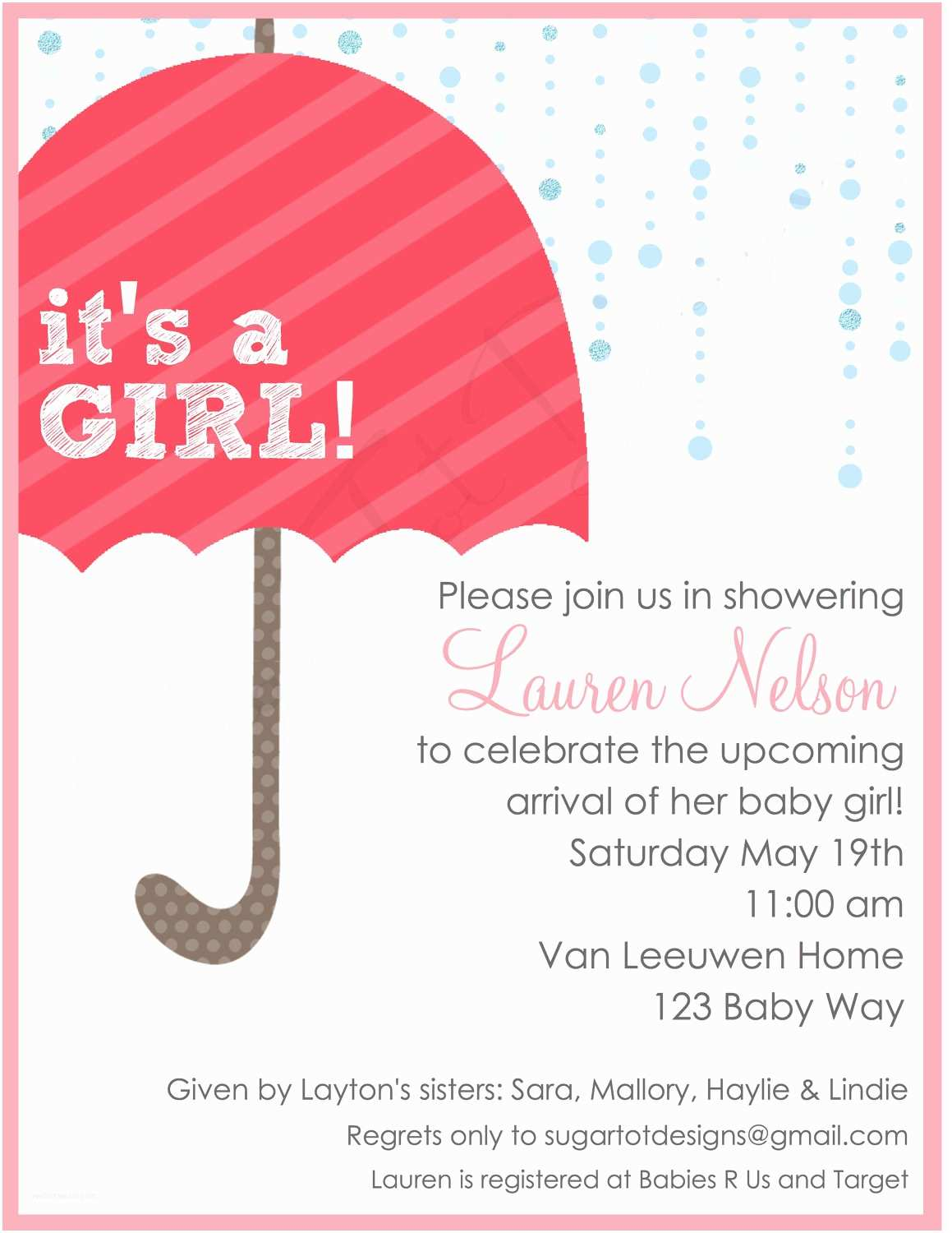 Baby Shower Girl Invitations Baby Shower Invitation Ideas for Girl