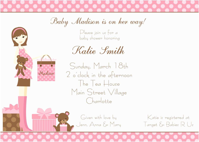 Baby Shower Girl Invitations Baby Shower Invitations Girl