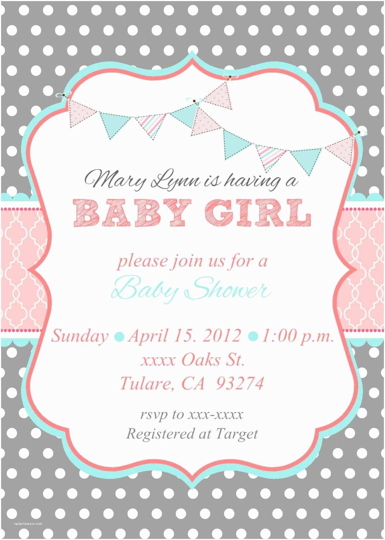 Baby Shower Girl Invitations Baby Shower Invites for Girl