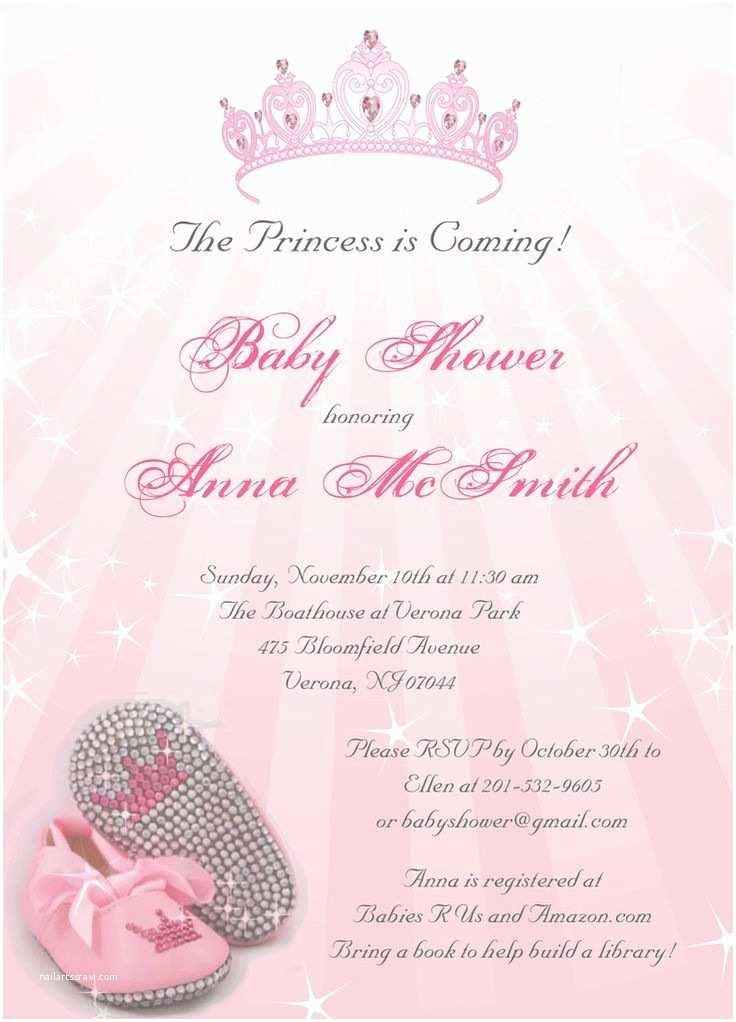 Baby Shower Girl Invitations Princess Baby Shower Invitations