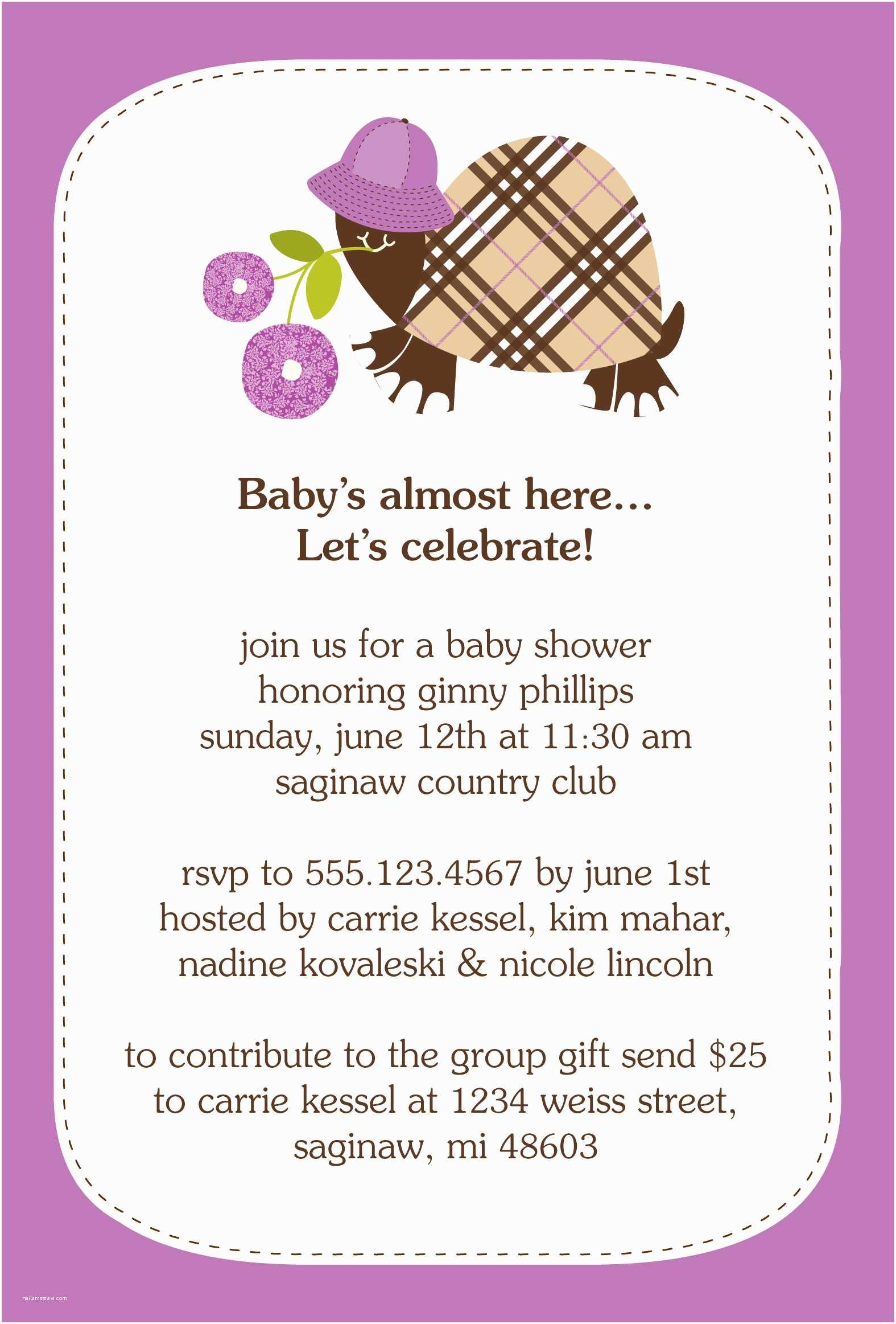 Samples Baby Shower Invitations Wording