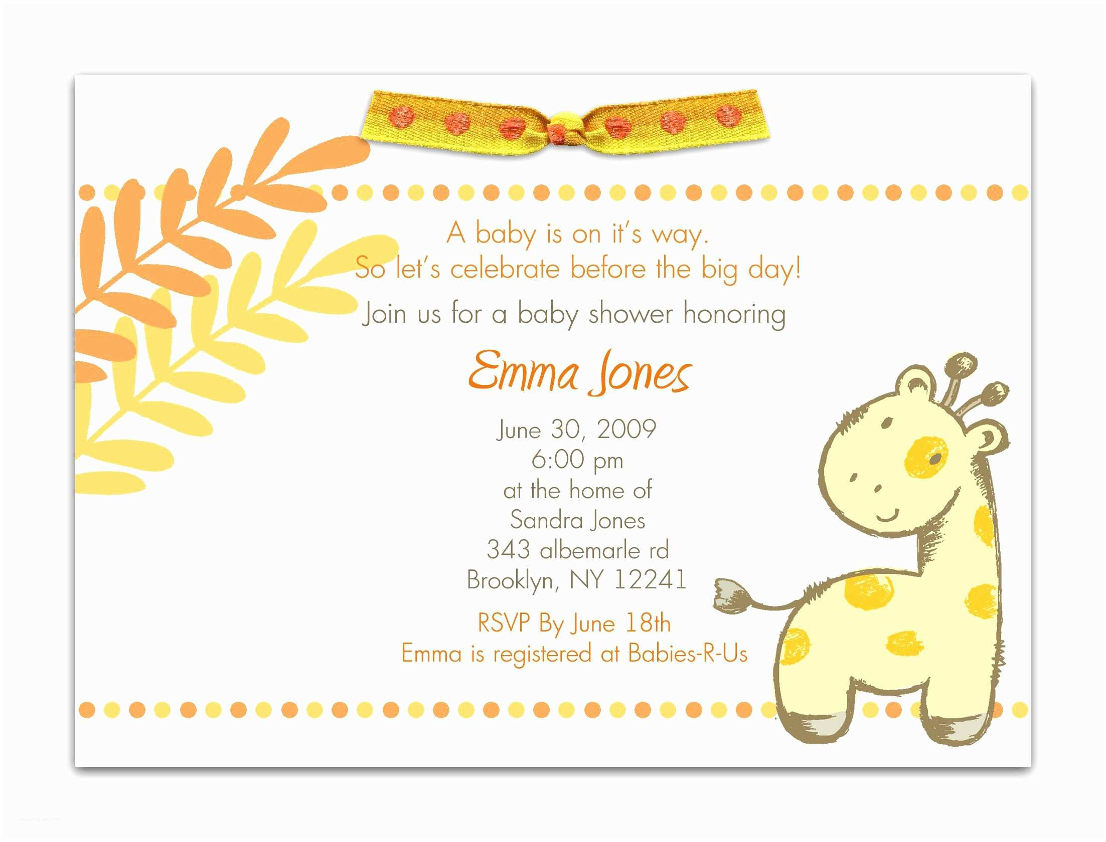 Baby Shower Invitation Examples Baby Shower Invitation Baby Shower Invitations Templates