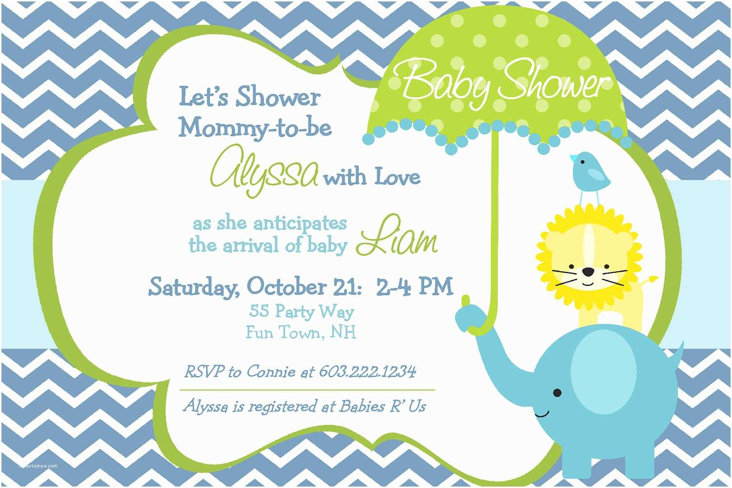 Baby Shower Invitation Examples Baby Shower Invitations for Boy & Girls Baby Shower