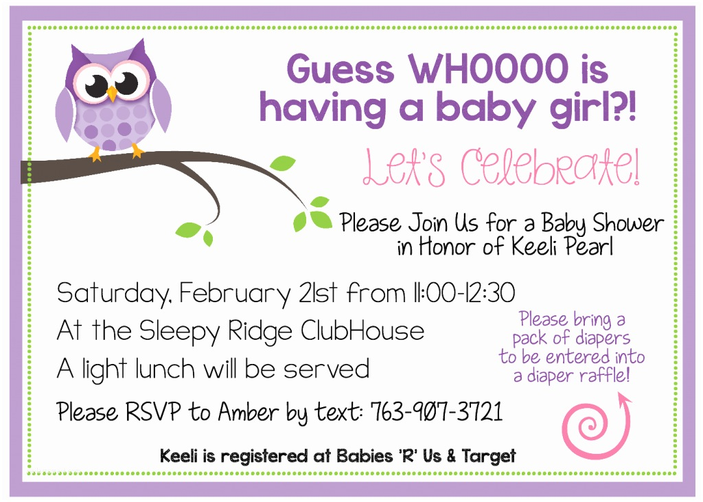 Baby Shower Invitation Examples Free Printable Owl Baby Shower Invitations & Other