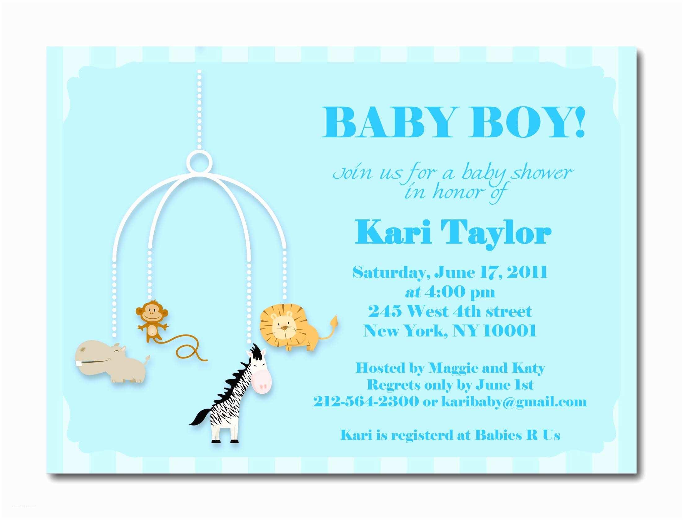 Baby Shower Invitation for Boy Baby Boy Shower Invites