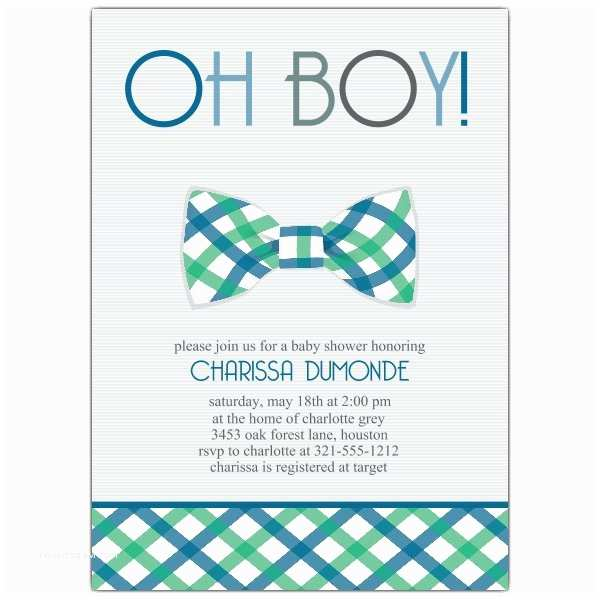 Baby Shower Invitation for Boy Bowtie Baby Shower Invitations