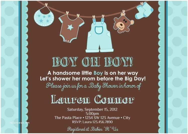 Baby Shower Invitation for Boy Boy Baby Shower Invitation Baby Boy Shower by Artisacreations