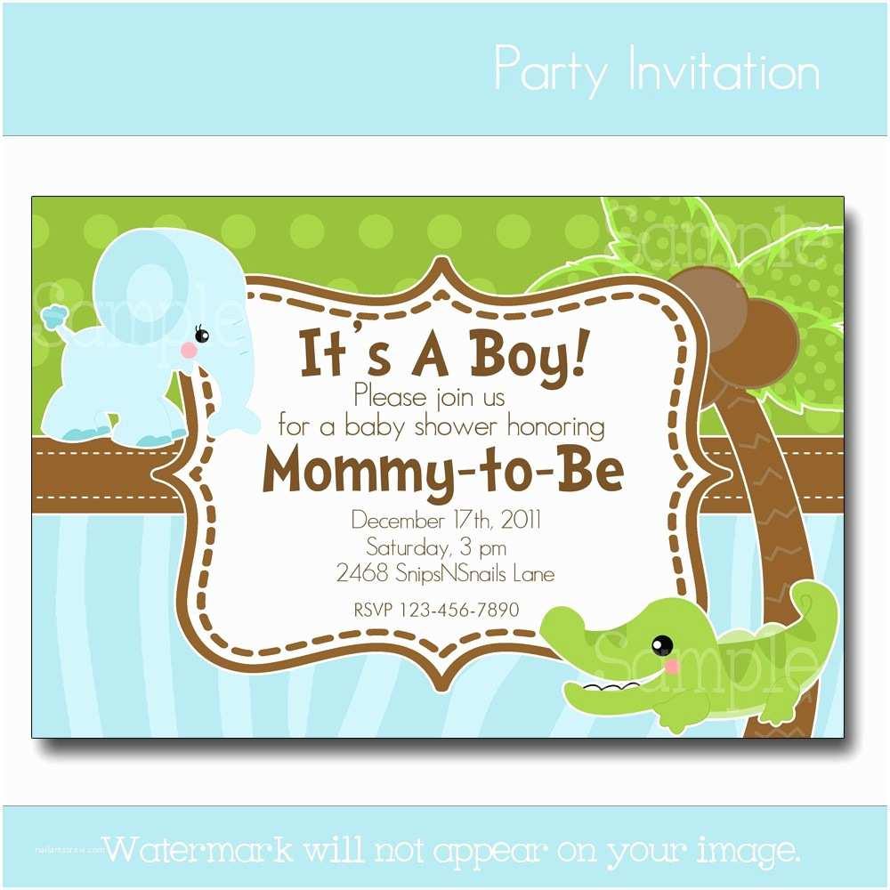 Baby Shower Invitation for Boy Design Baby Boy Shower Invites