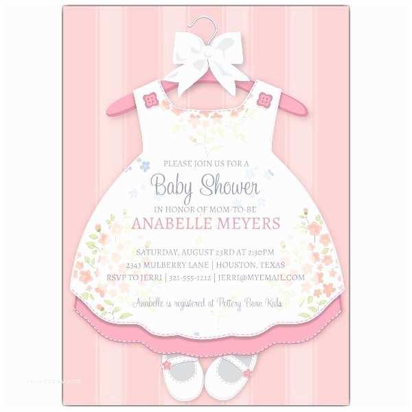 Baby Shower Invitation for Girl Baby Girl Dress Invitations