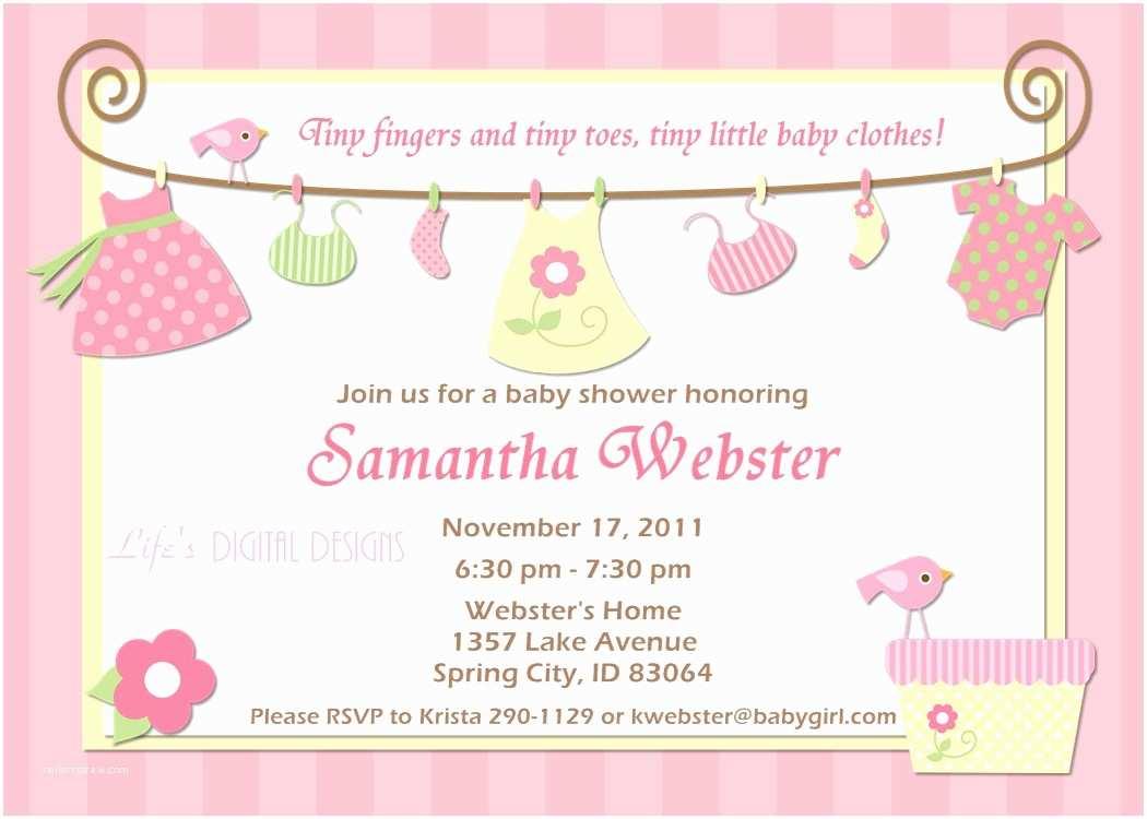 Baby Shower Invitation for Girl Baby Shower Invitations for Boy & Girls Baby Shower