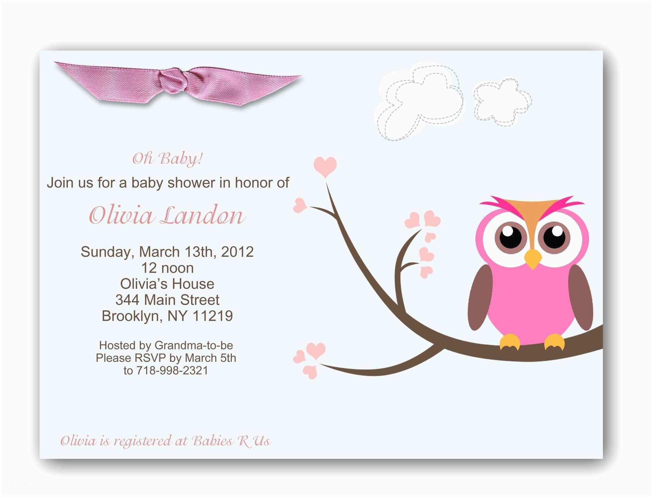Baby Shower Invitation Girl Baby Shower Invitations For