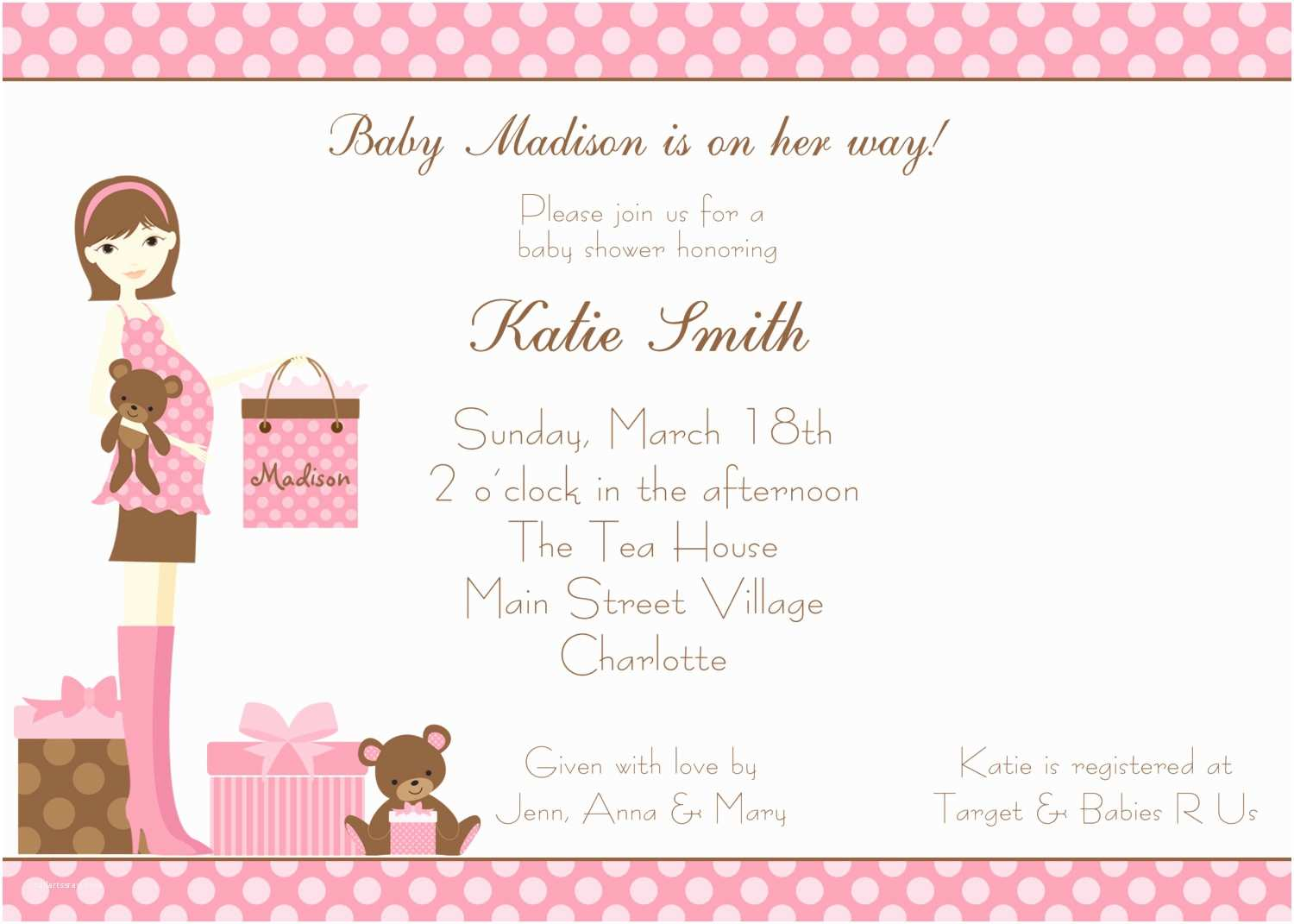 Baby Shower Invitation Girl Baby Shower Invitations Girl
