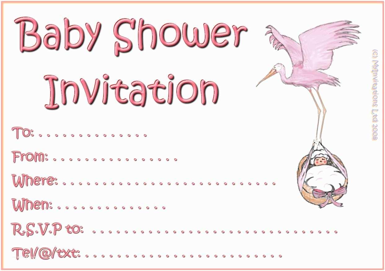 Baby Shower Invitation Girl Printable Girl Baby Shower