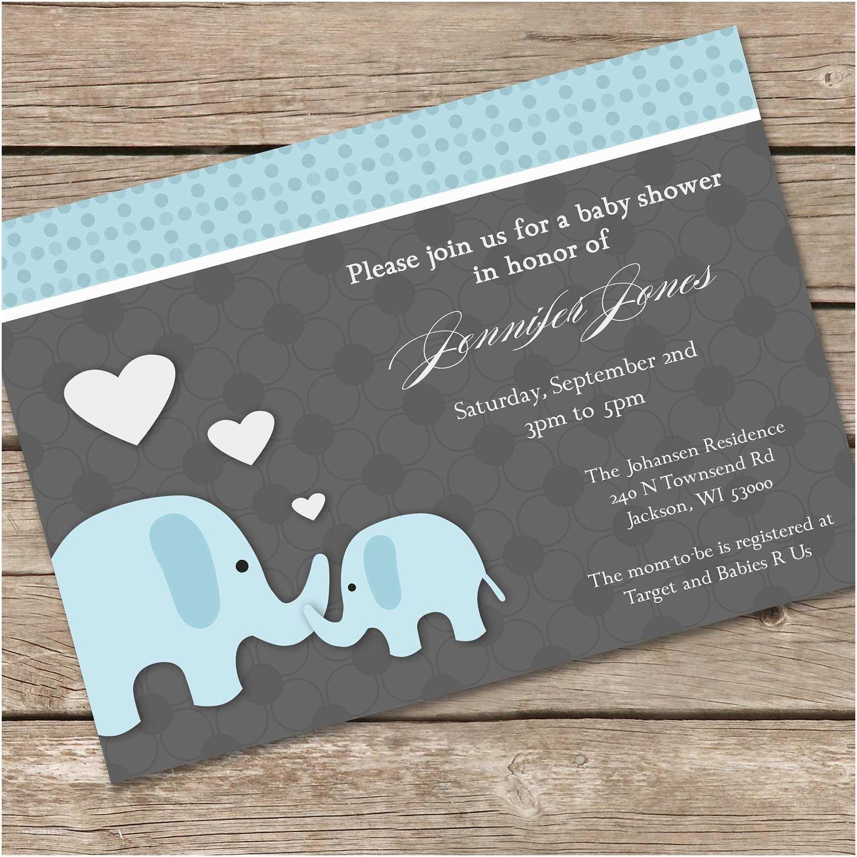 Baby Shower Invitation Ideas Elephant Baby Shower Invitations Baby Shower Decoration