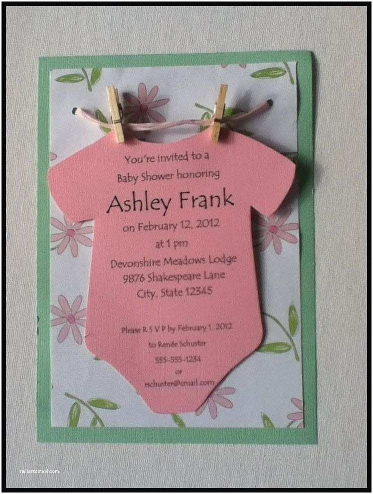 Baby Shower Invitation Ideas Esie On A Clothesline Baby Shower Invitation Neutral