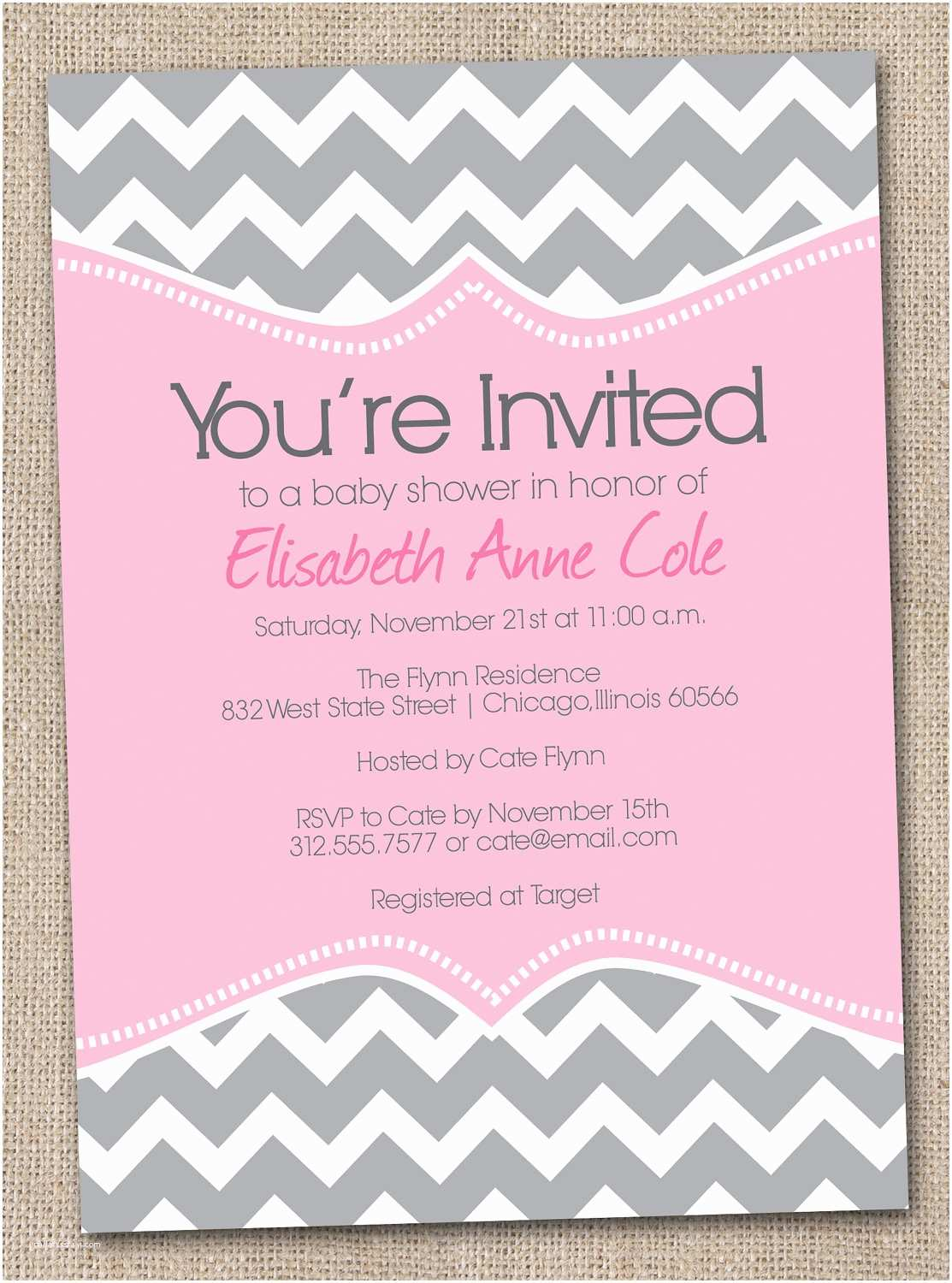 Baby Shower Invitation Ideas Free Printable Baby Shower Invitation Chevron