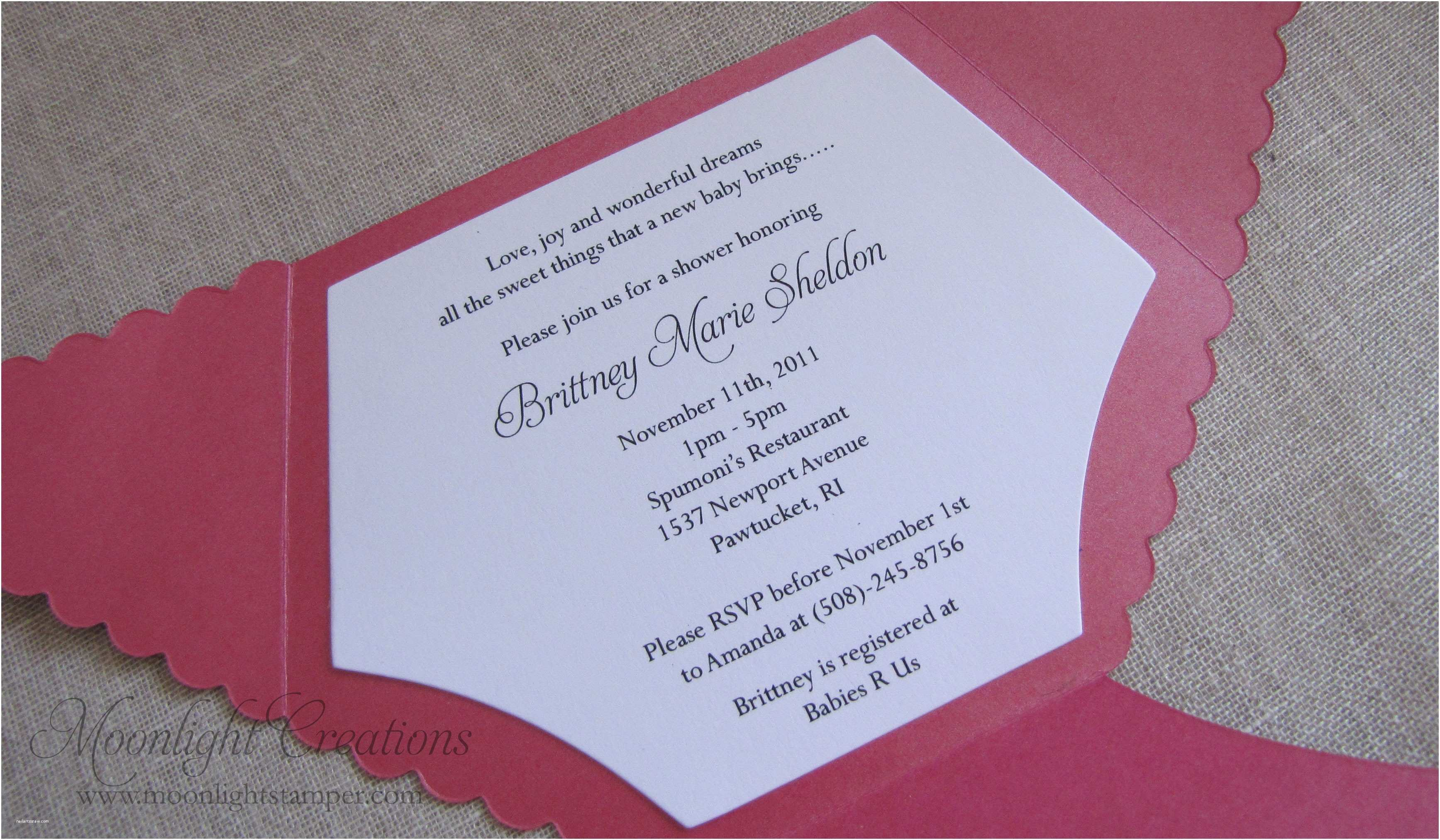 Baby Shower Invitation Ideas Homemade Baby Shower Invitations for Image