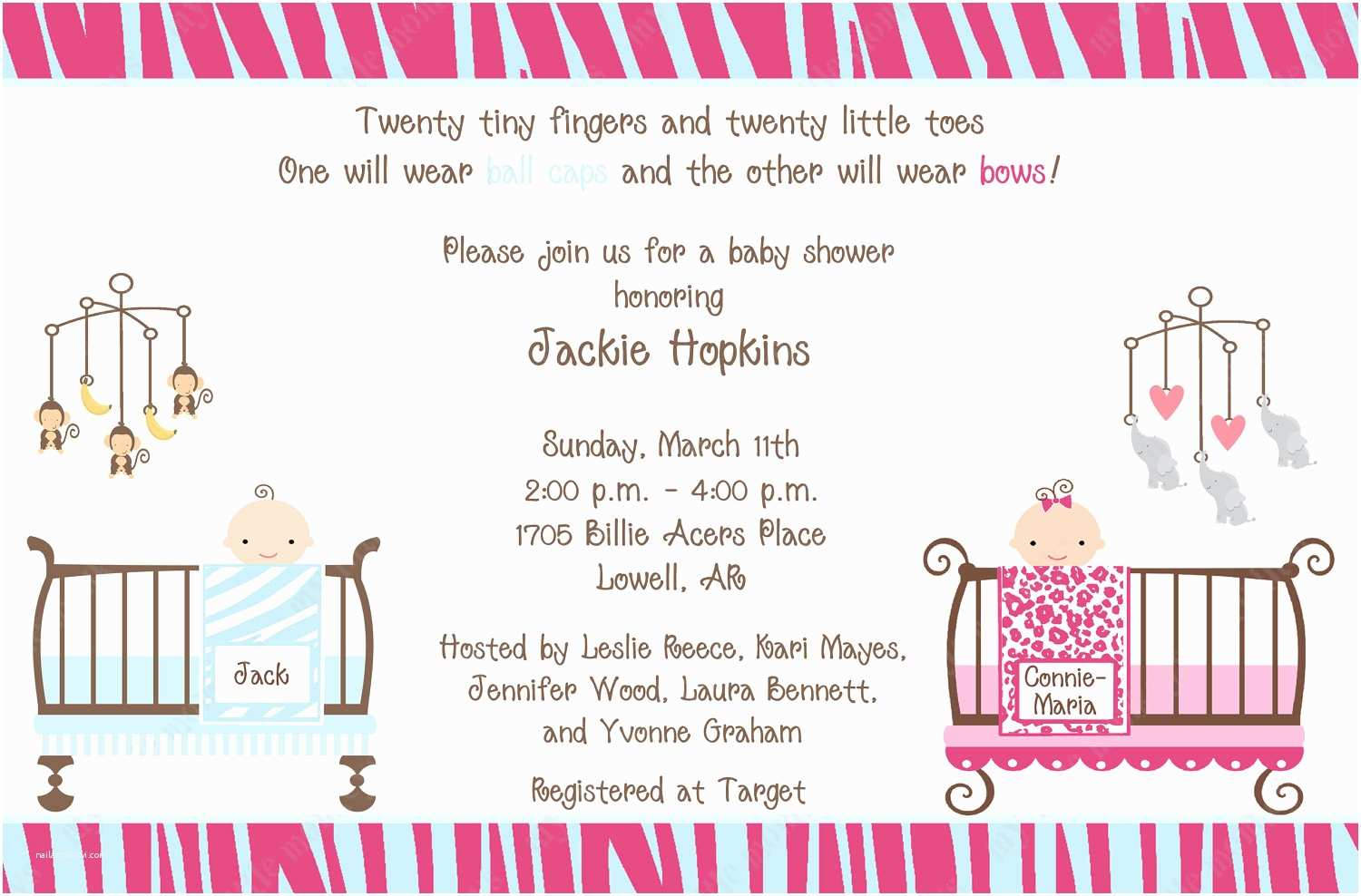 Baby Shower Invitation Ideas Tips for Choosing Twin Baby Shower Invitation