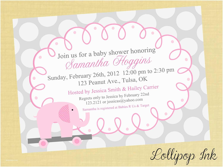 Baby Shower Invitation Message Baby Shower Girl Invitation Wording