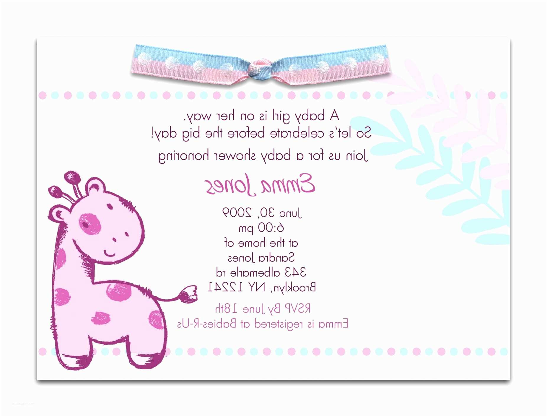 Baby Shower Invitation Message Baby Shower Invitation Wording Examples Sample Baby Shower