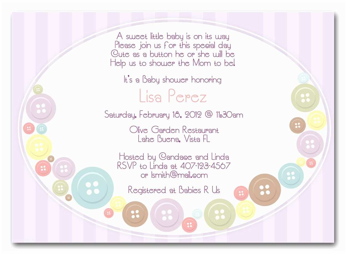 Baby Shower Invitation Message Baby Shower Invitations for Girls