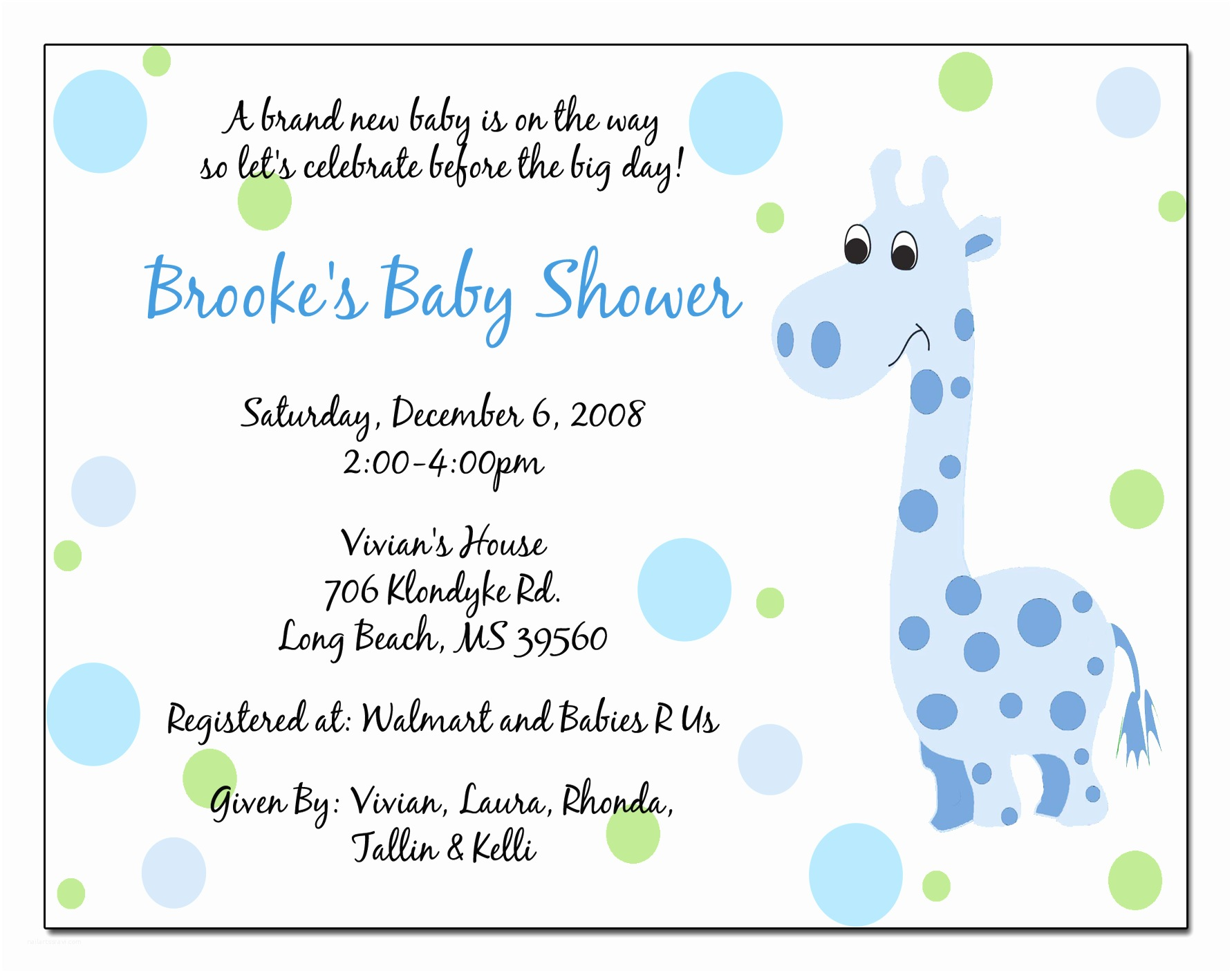 Baby Shower Invitation Message Wording for Baby Shower Invitations Template