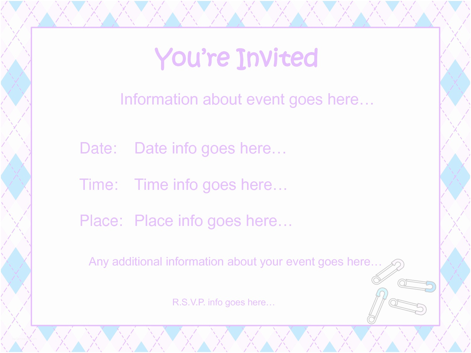 Baby Shower Invitation Template Baby Shower Invitations Free Templates