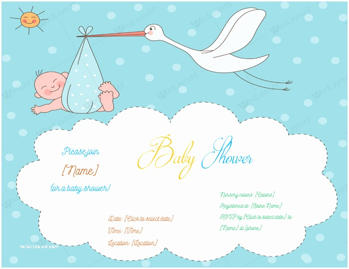 Baby Shower Invitation Template Baby Shower Invitations Templates for Word