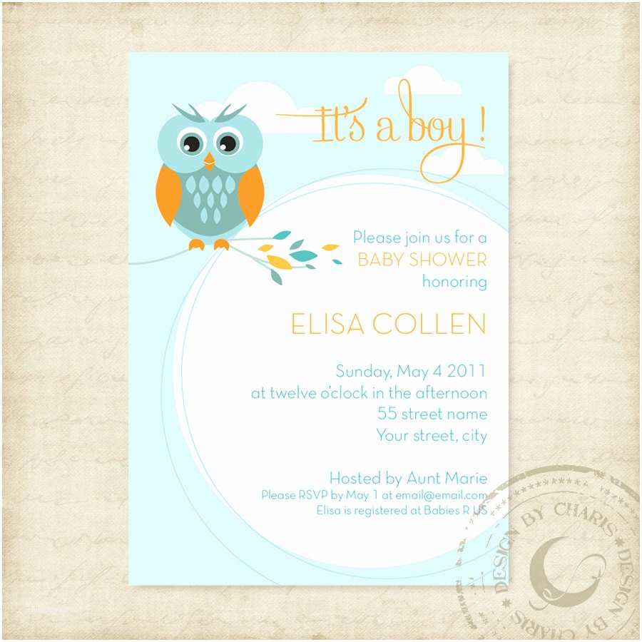 Baby Shower Invitation Template Baby Shower Owl Invitations Template
