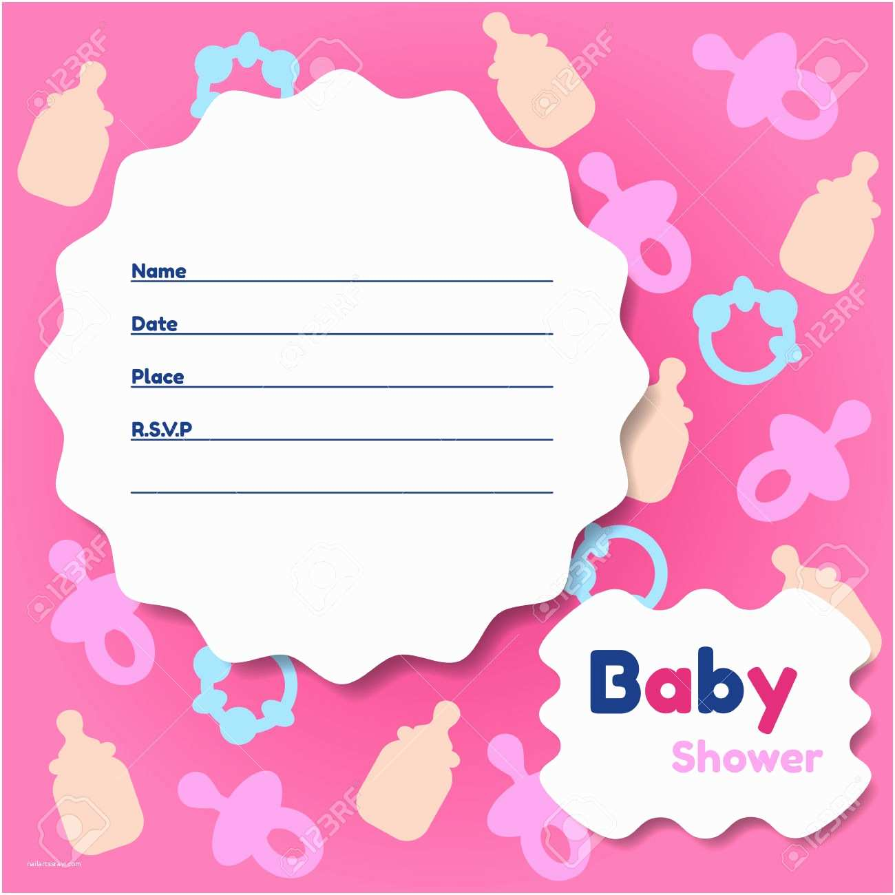 Baby Shower Invitation Template Template Baby Shower Card Template Baby Shower