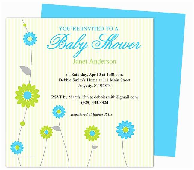 Baby Shower Invitation Templates Baby Shower Invitations Templates for Word