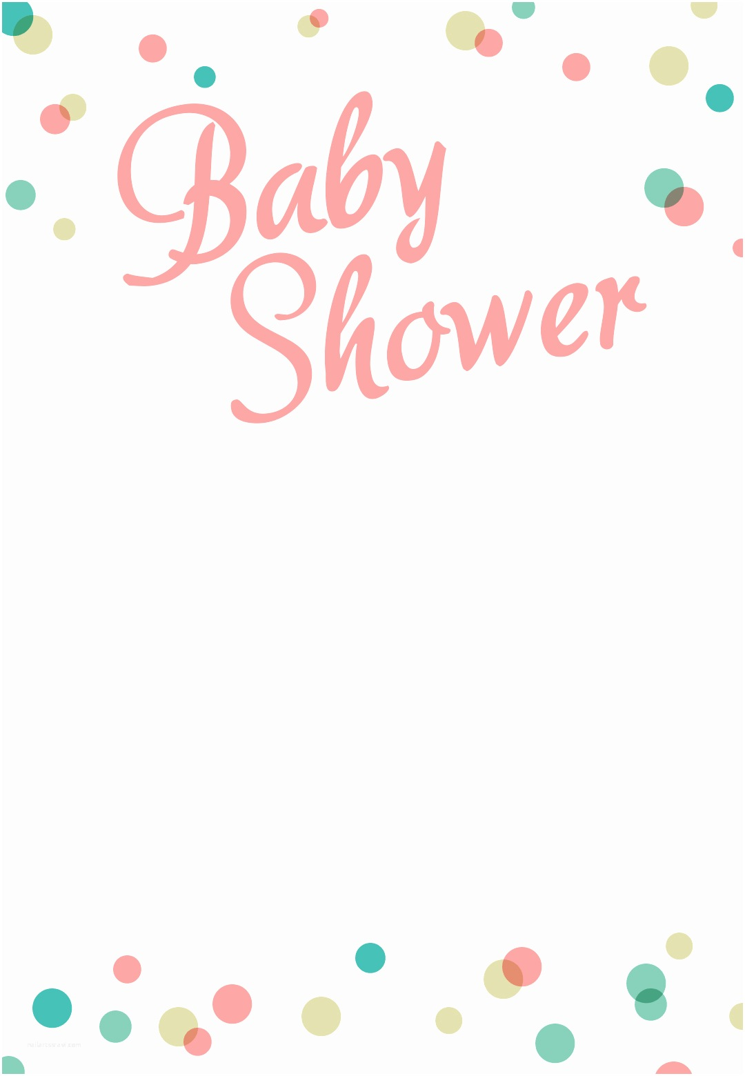 Baby Shower Invitation Templates Dancing Dots Borders Free Printable Baby Shower