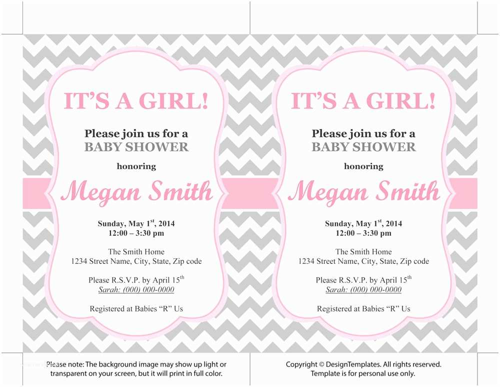 Baby Shower Invitation Templates Free Baby Girl Shower Invitations Free Templates