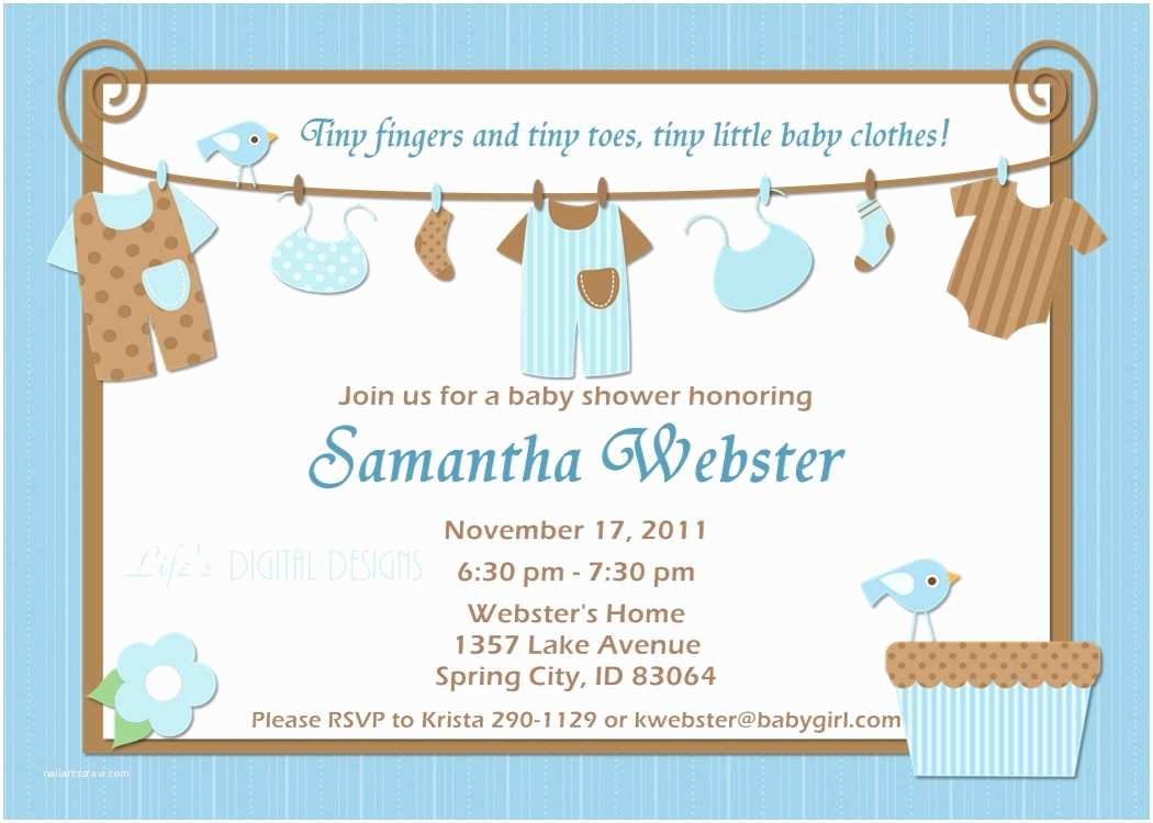 Baby Shower Invitation Templates Ideas for Boys Baby Shower Invitations
