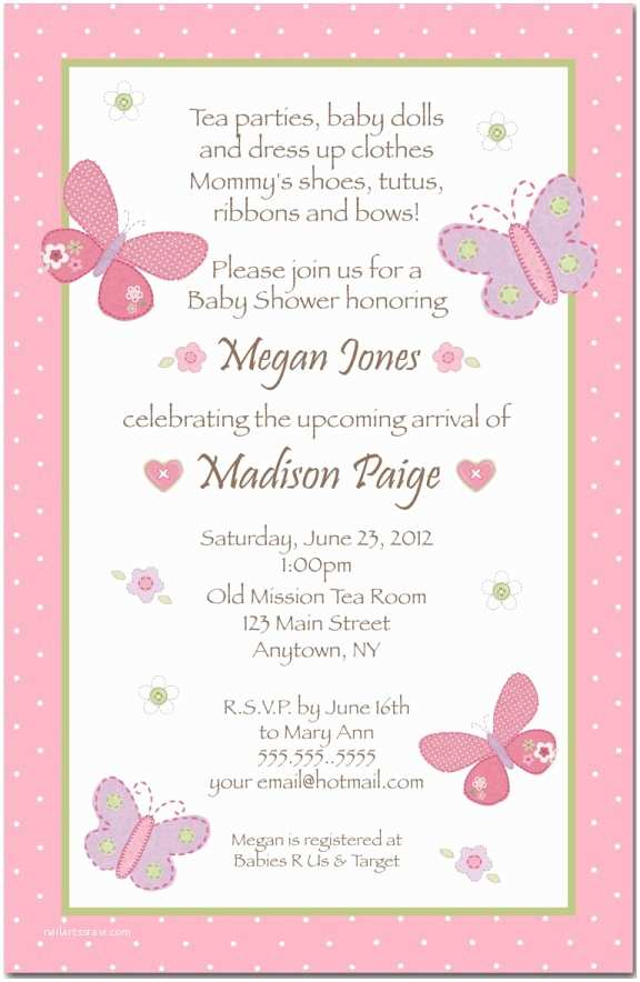 Baby Shower Invitation Templates Wording for Baby Shower Invitation