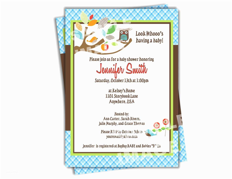 Baby Shower Invitation  For A Boy Baby Boy Shower Invitation