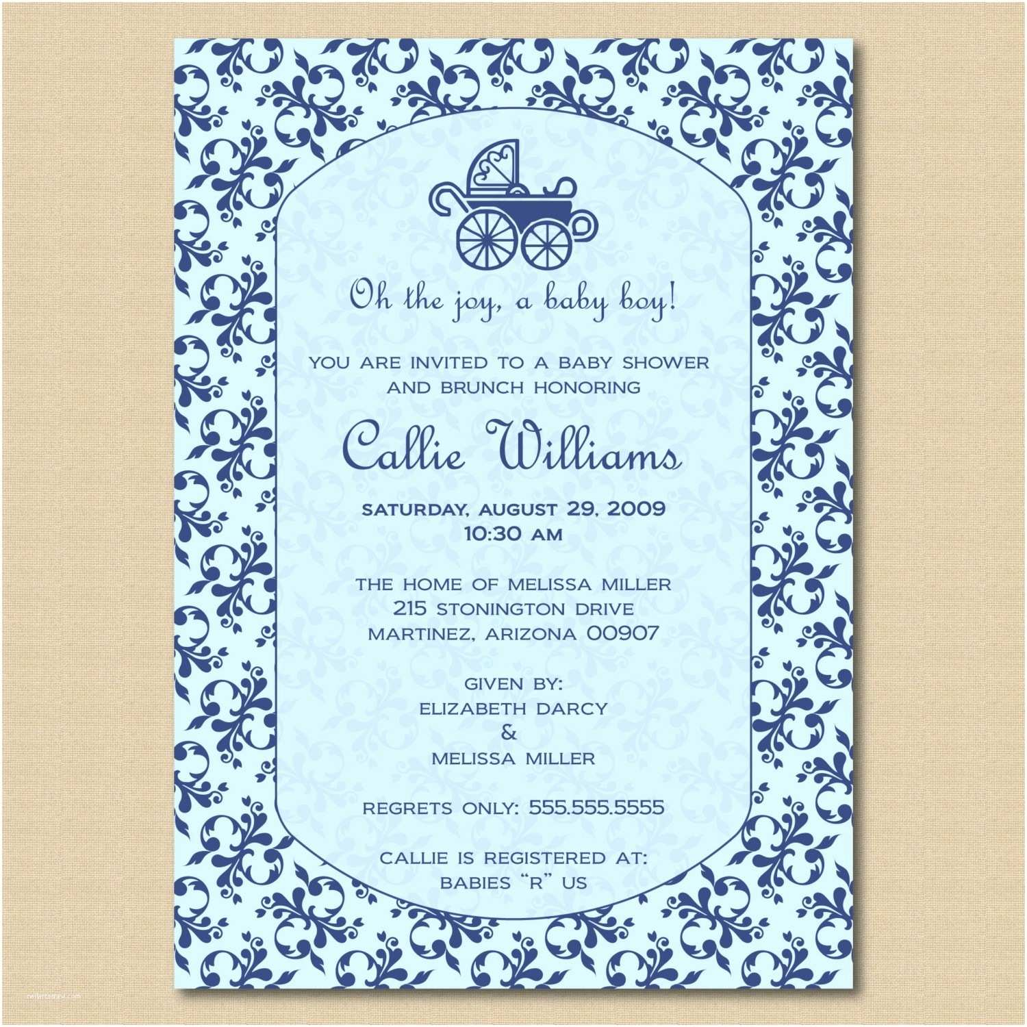 Baby Shower Invitation Wording for A Boy Baby Invitation Quotes Quotesgram