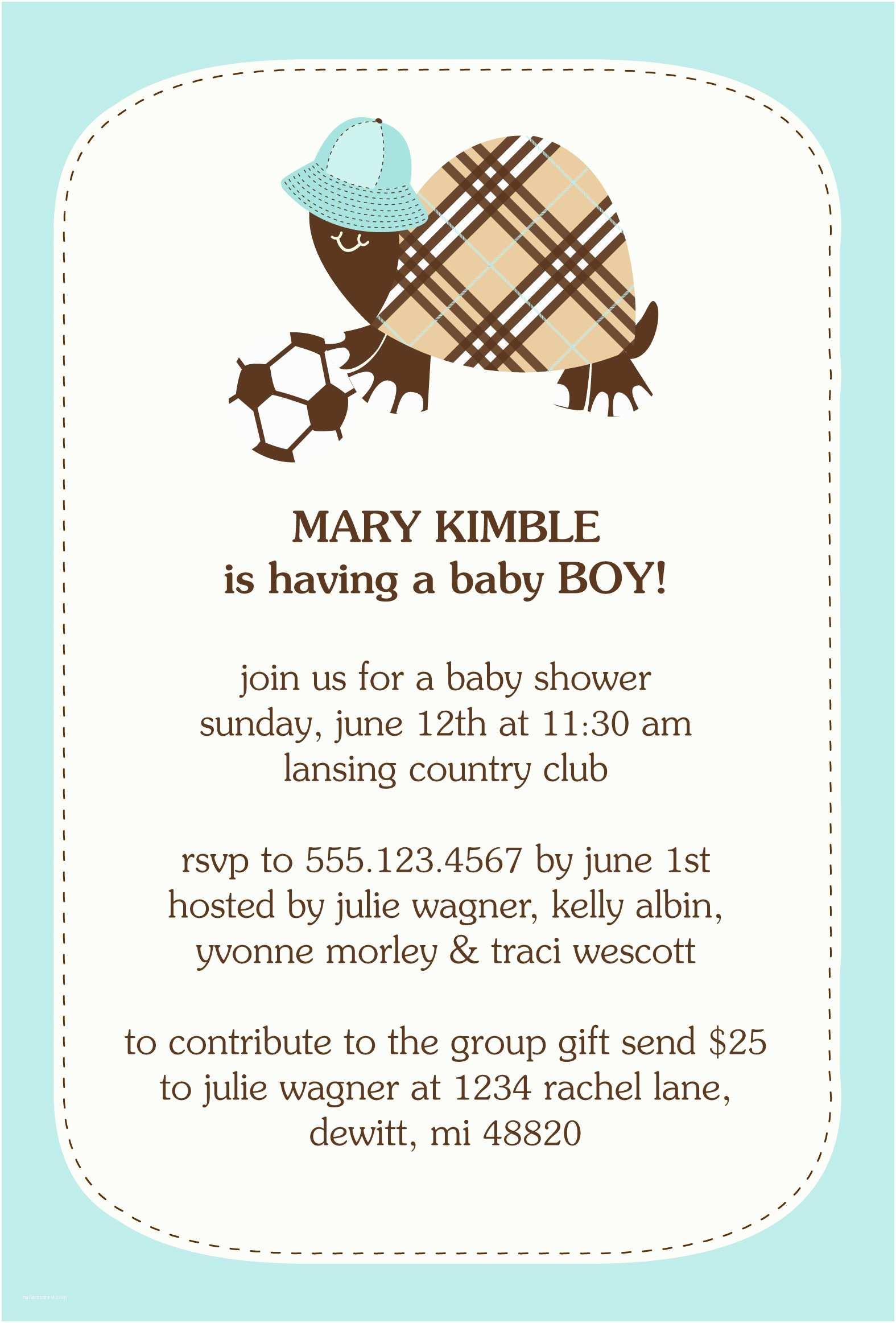 Baby Shower Invitation Wording For A Boy Baby Shower Invitation