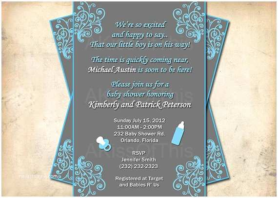 Baby Shower Invitation Wording For A  Baby Shower Invitation Wording For A
