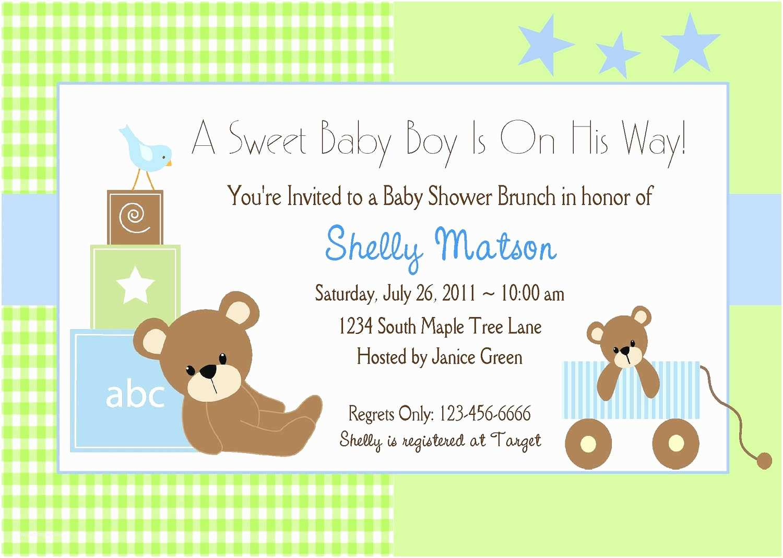 Baby Shower Invitation  For A Boy Baby Shower Invitation