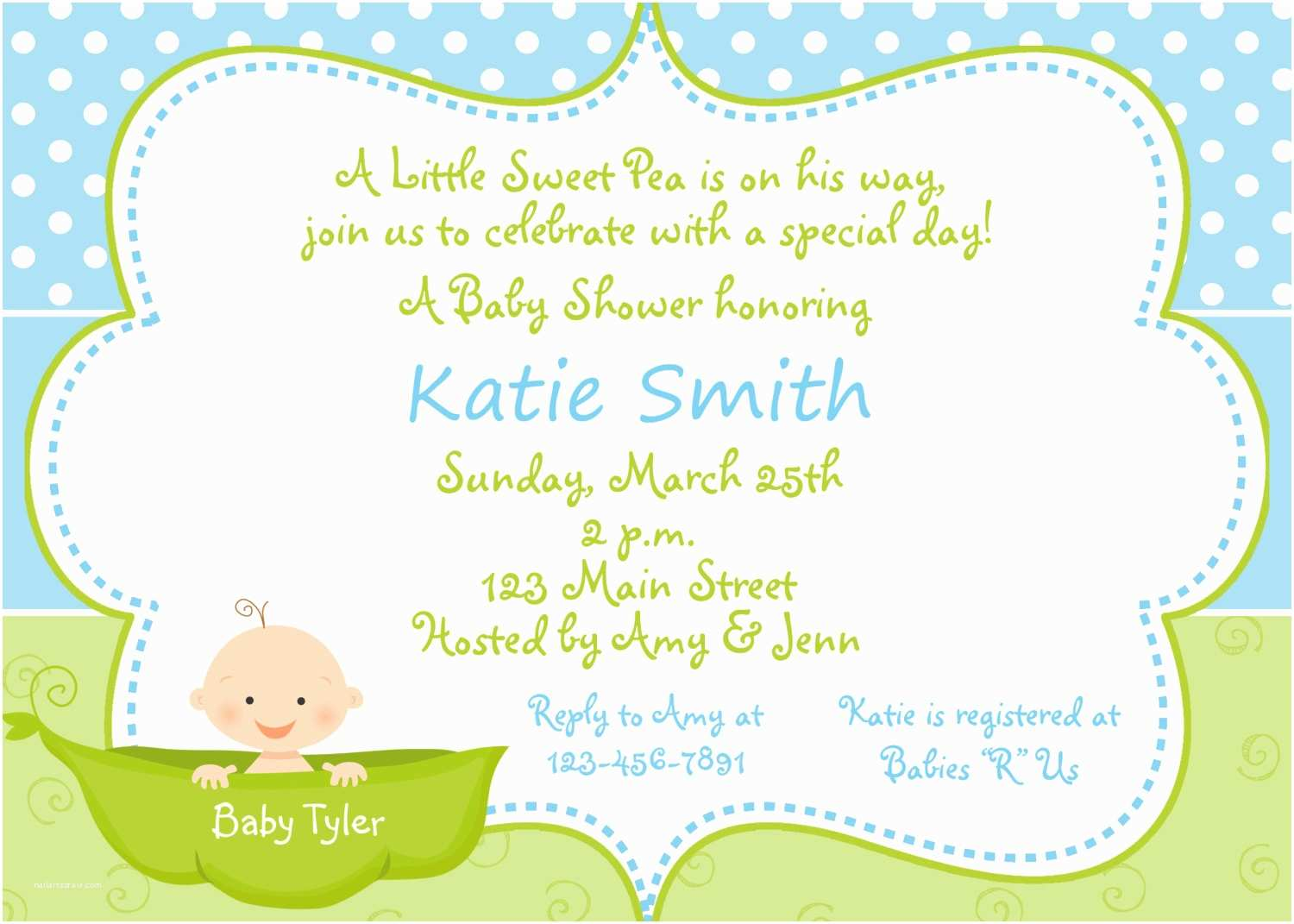 Baby  Invitation Wording For A Boy Baby  Invitations For Boy & Girls Baby