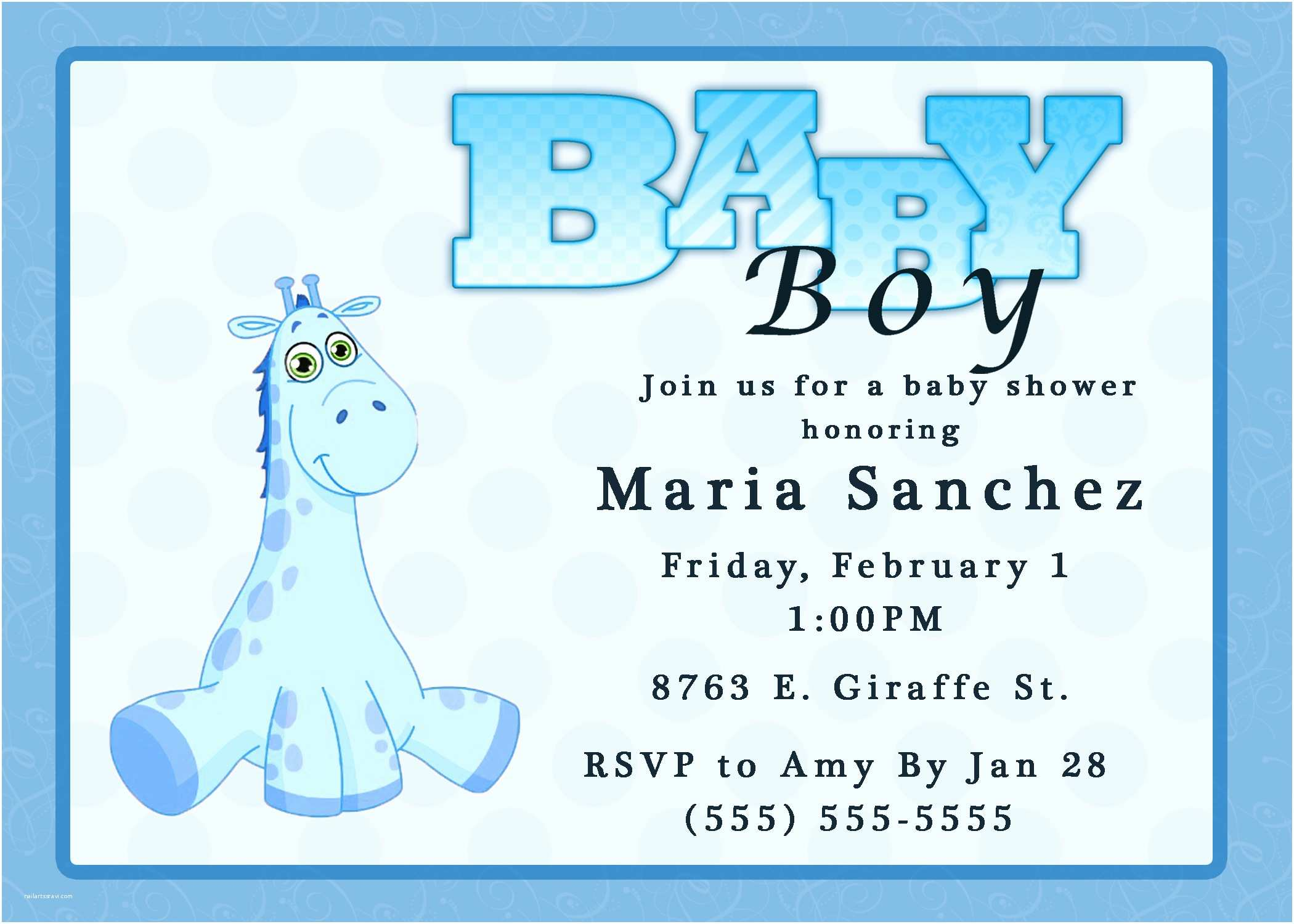 Baby Shower Invitation Wording For A Boy Baby Shower Invitations For