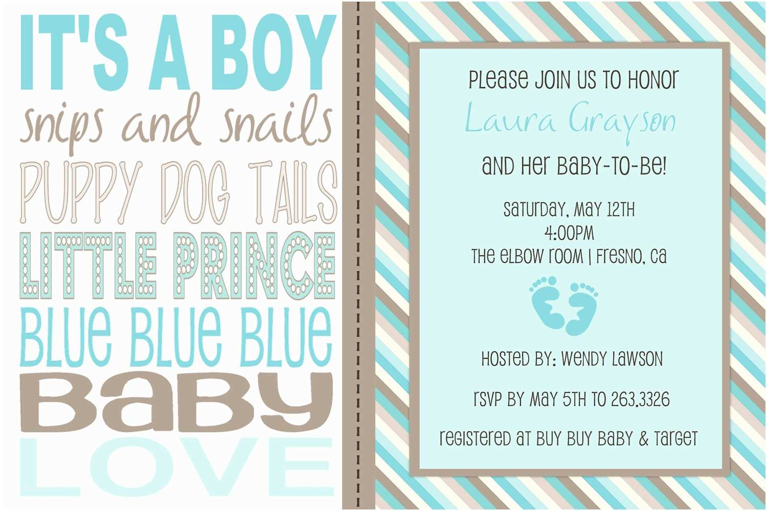Baby Shower Invitation Wording for A Boy Items Similar to Baby Boy Wording Shower Invitation On Etsy