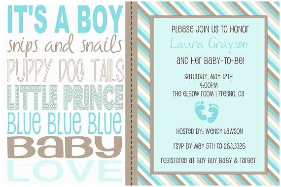 Baby Shower Invitation Wording For A Boy Items Similar To Baby Boy Wording Shower Invitation On