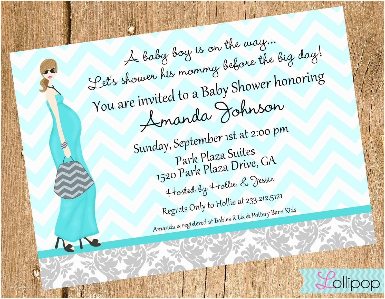 Baby Shower Invitation Wording For A Boy Its A Boy Mod Baby Shower Printable Invitation By