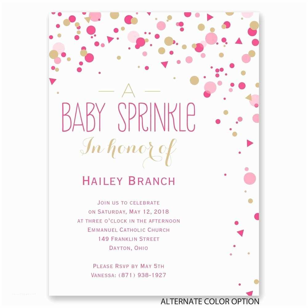 Baby Shower Invitations Bright Sprinkles Petite Baby Shower Invitation