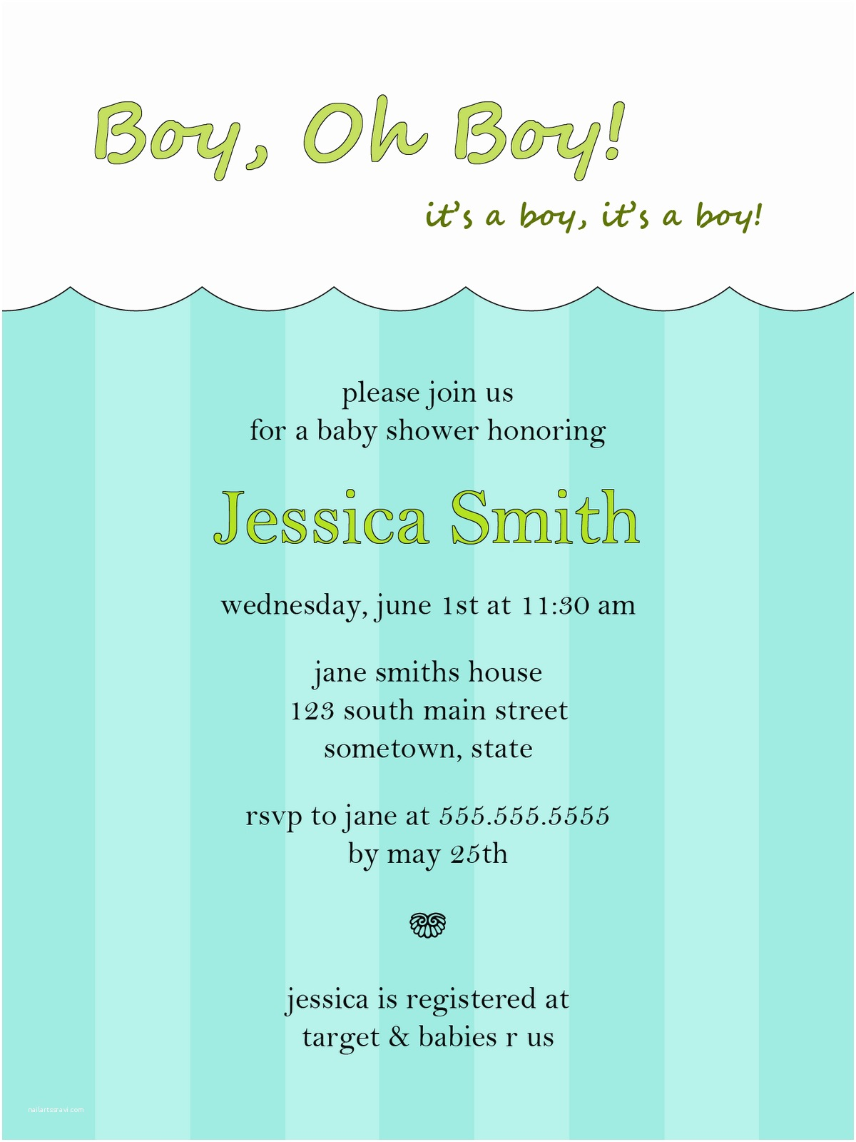 Baby Shower Invitations for Boy Baby Shower Invites